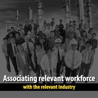 Associating-relevant-workforce